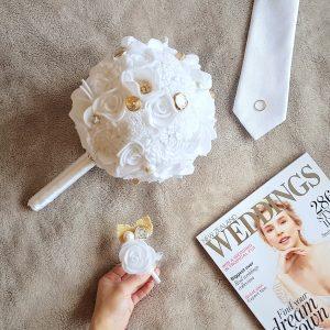Oh Em Gee - Felt Florist + Decor | Wedding Bouquet and Buttoneire