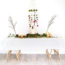 Felt floral chandelier